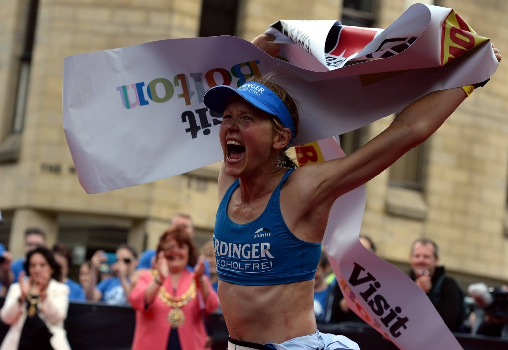 Lucy Gossage wins Ironman UK Bolton 2015